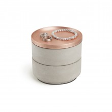 Tesora Jewelry Box (Concrete / Copper) - Umbra