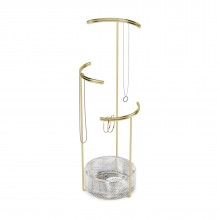 Tesora Jewelry Stand (Glass / Brass) - Umbra
