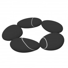 Pebble Silicone Trivet (Black) - Toast Living