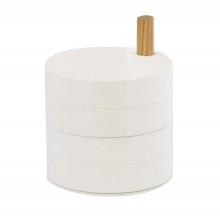 Tosca 4-Tier Jewelry Βox (White) - Yamazaki