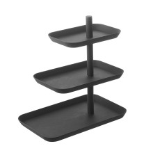 Tower 3-Tiered Serving Stand (Black) - Yamazaki