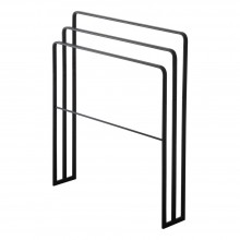 Tower Bath Towel Hanger With 3 Bars (Black) - Yamazaki