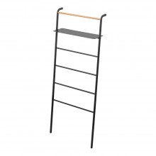 Tower Leaning Ladder with Shelf (Black) - Yamazaki