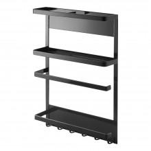 Tower Magnetic Kitchen Storage Rack (Black) - Yamazaki