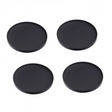 Tower Silicone Black Coasters (Set of 4) - Yamazaki