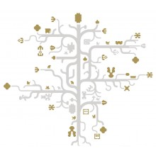 Tree Gold Wall Sticker - Domestic