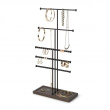 Trigem 5-Tier Jewelry Stand (Black/ Walnut) - Umbra