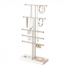 Trigem 5-Tier Jewelry Stand (White / Nickel) - Umbra