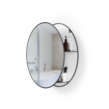 Cirko Wall Mirror and Storage Unit (Black) - Umbra
