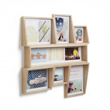 Edge Multi Wall Photo Display (Natural Wood) - Umbra