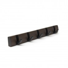 FLIP 5 Hook Coat Rack (Black/Walnut) - Umbra