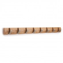FLIP 8 Hook Coat Rack (Natural Wood) - Umbra