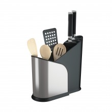 Furlo Black Stainless Steel Expandable Utensil Holder - Umbra