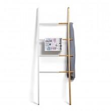 Hub Ladder (White / Natural) - Umbra