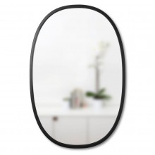 Hub Wall Mirror Oval 91 x 61 cm (Black) - Umbra