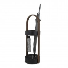 Bellwood Umbrella Stand (Black / Walnut) - Umbra