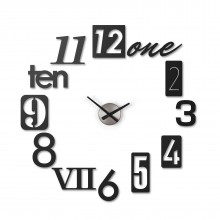Numbra Wall Clock (Black) - Umbra