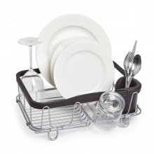 Sinkin Multi-Use Dish Rack (Black / Nickel) - Umbra