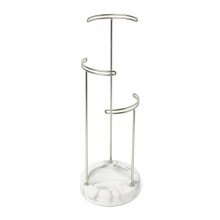 Tesora Jewelry Stand (White / Nickel) - Umbra