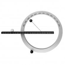 Perpetual Calendar Small (Black / Silver) - MoMA