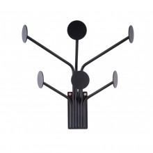 Wall Dots Coat Hanger (Black) - Present Time