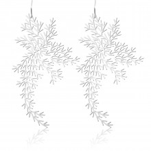 Waterweeds Earrings M (Silver) - Moorigin