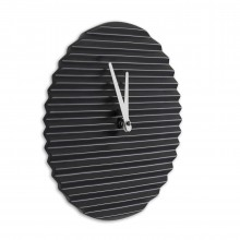 Wave Wall Clock (Black / White) – Sabrina Fossi Design