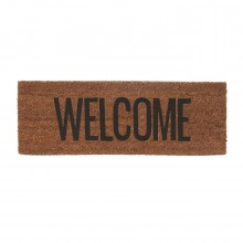 Welcome Door Mat (Black / Brown) - Present Time