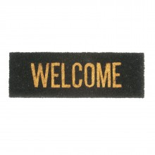 Welcome Door Mat (Gold / Black) - Present Time