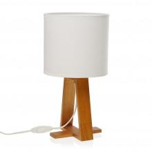 Linear Table Lamp White (Wood / Textile) - Versa