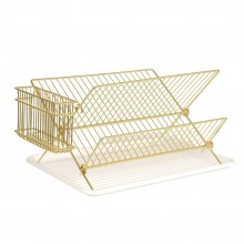 Wire Dish Rack (Gold) - Present Time