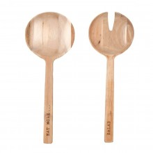 Wooden Salad Servers Eat More Salad - Raeder