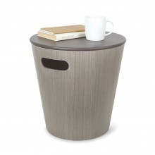 Woodrow Storage Stool (Grey) - Umbra