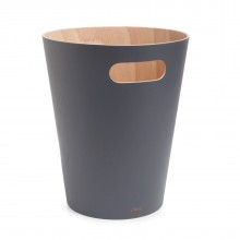 Woodrow Trash Can (Charcoal / Natural) - Umbra