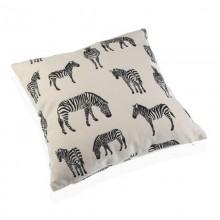 Zebra Square Cushion 45 x 45 cm (Black / White) - Versa