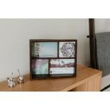 Edge Multi Desk Photo Frame (Aged Walnut) - Umbra