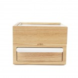 Mini Stowit Jewelry Storage Box (White / Natural) - Umbra