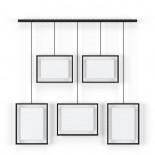 Εxhibit Multi Wall Photo Display (Black) - Umbra