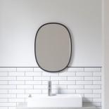 Hub Wall Mirror Oval 61 x 46 cm (Black) - Umbra