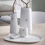 Golden Leaf Porcelain Vase (Large) - Raeder