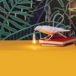 Bird Playing Lamp (White) - Seletti