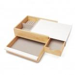 Stowit Jewelry Storage Box (White / Natural) - Umbra
