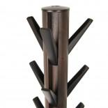 Flapper Coat Rack (Black / Walnut) - Umbra