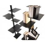 Adelaide Bookcase / Shelving Unit (Metal / Black) - Mogg