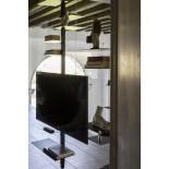 Adelaide TV Stand / Shelving Unit (Metal / Black) - Mogg