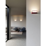 Aile Wall Lamp (Lacquer Red) - Lodes