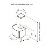Alba Cubo Island Kitchen Hood - Elica