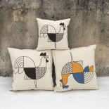 Animalia Rooster Cushion 27 x 27 cm (Black & White) - A Future Perfect