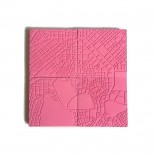 Athens Fragments Flamingo Pink Concrete Coasters (set of 4) - A Future Perfect