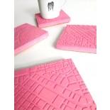Athens Fragments Flamingo Pink Concrete Coasters (set of 4) - A Future Perfect